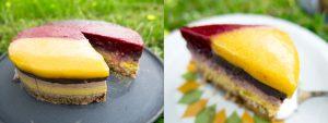 Deutschland Fussball-Fieber Torten-Kuchen mit Rezept, glutenfrei, vegan, Rohkost